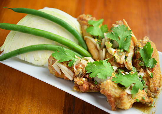 Thai Hot Wings (6 wings)**
